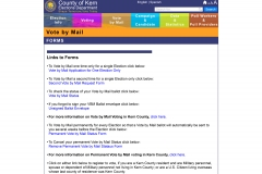 vote by mail forms page