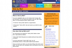 vote by mail landing page